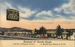 Diamond H. Rancho Courts Postcard