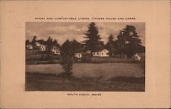 Roomy and Comfortable Cabins, Thomas House and Camps Postcard
