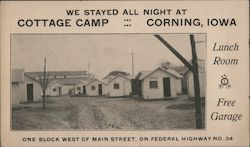 We Stayed All Night at Cottage Camp Postcard