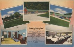Tobey's Motor Court Postcard