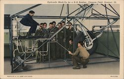 Hydraulic Mock Up for a B-18 Bomber, Chanute Field Postcard