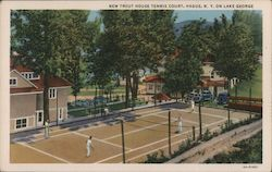 New Trout House Tennis Court on Lake George