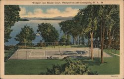 Westport Inn Tennis Court Postcard