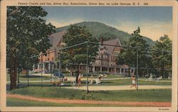 Tennis Courts and Inn - Silver Bay Association on Lake George