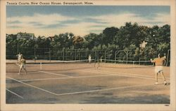 Tennis Courts at New Ocean House Postcard