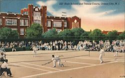 High School and Tennis Courts Postcard