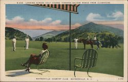 Looking Across Golf Course Towards Balsam Range from Clubhouse, Waynesville Country Club Postcard