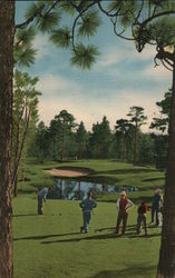 4th Hole at Pine Needles Country Club Postcard