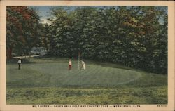 No. 1 Green - Galen Hall Golf and Country Club Postcard