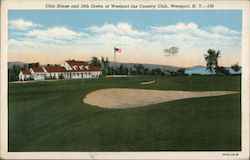 Club House and 18th Green at Westport Inn Country Club