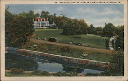 Hershey Country Club and Ninth Green Postcard