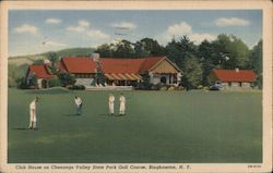 Club House on Chenango Valley State Park Golf Course