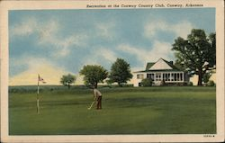 Recreation at the Conway Country Club Postcard