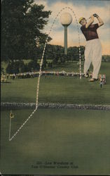 Lew Worsham, Tam O'Shanter Country Club Postcard