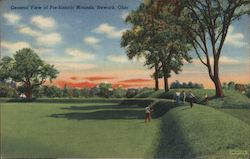 General View of Prehistoric Mounds Postcard