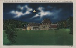 Night Time Scene of Asheville Country Club - In the Land of the Sky
