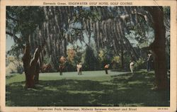 Eleventh Green, Edgewater Hotel Golf Course Postcard
