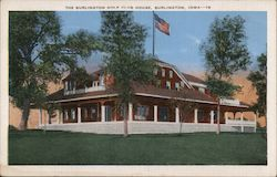 The Burlington Golf Club House Postcard