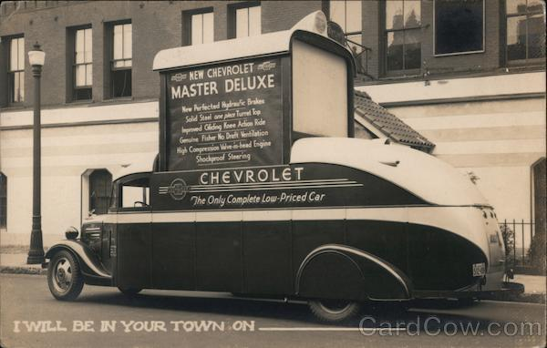 1936 Chevrolet Master Deluxe Advertising Bus Boston Massachusetts