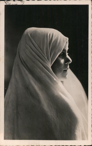 A Woman Wearing a Hair Cover Arab