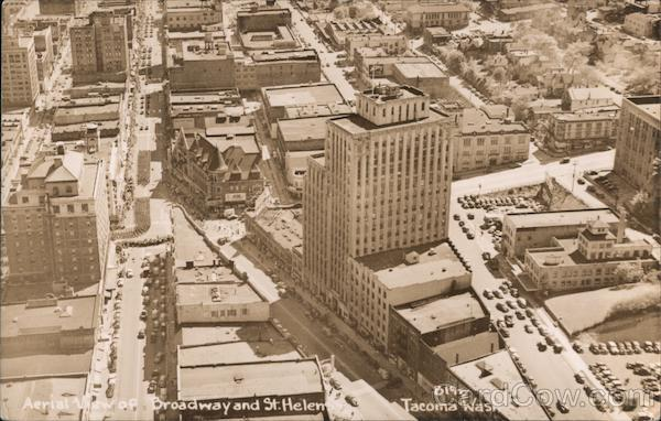 Aerial View of Broadway and St. Helens Tacoma Washington