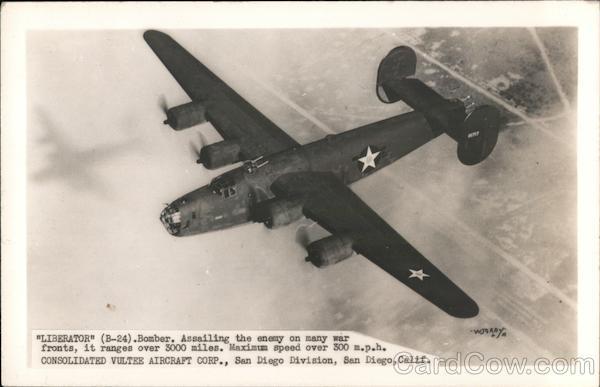 Liberator B-24 Bomber World War II