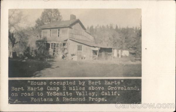 House Occupied by Bert Harte Groveland California