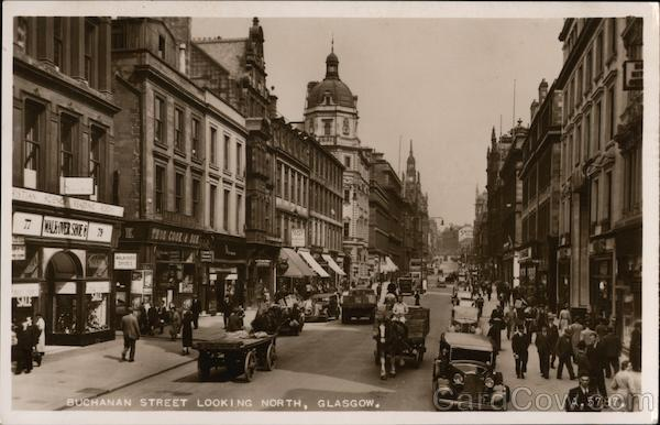 Buchanan Street Looking North Glasgow Scotland
