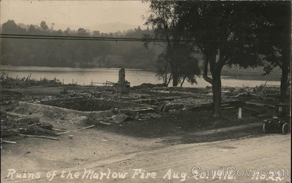 Ruins of the Marlow Fire - August 20,1916 New Hampshire