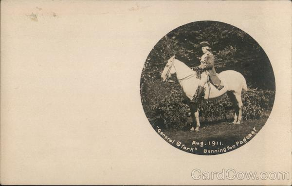 General Stork Bennington Pageant Aug. 1911 Vermont