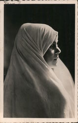 A Woman Wearing a Hair Cover