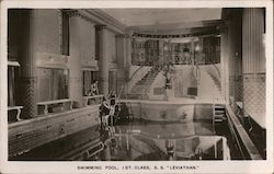 First class swimming pool on the S.S. Leviathan