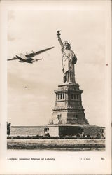 Clipper Passing Statue of Liberty