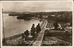 Sea Front, Torbay Road, showing Abbey Park and Tennis Courts Postcard