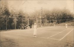 Tennis Court at Sagamore Lodge, Quimby Pond Postcard