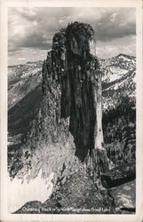 Chimney Rock in Selkirk Mountains Above Priest Lake