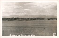View of Bremerton and the Olympic Mountains