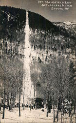 Mt Mansfield lift - Smugglers Notch Postcard