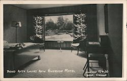 Bend Auto Court - New Riverside Motel - Highway 97 & 20 Postcard