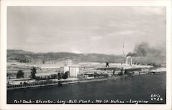 Port Dock - Elevator - Long Bell Plant, Mt St Helens - Longview Postcard