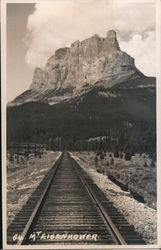 Mount Eisenhower (Castle Mountain) Postcard