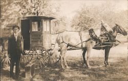 Rawleigh's Remedies Delivery Wagon & Salesman