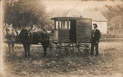 Rawleigh's Remedies Salesman & Delivery Wagon