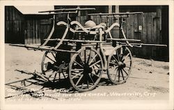 Old Hand Powered Fire Engine, Weaverville Fire Department