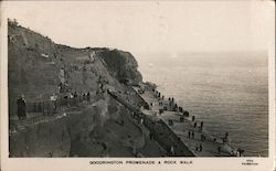 Goodrington Beach Promenade and Rock Walk Postcard
