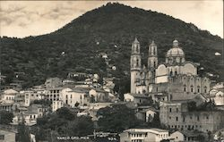 View of City Against Hill Postcard
