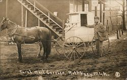 Rural Mail Carrier, Horse Drawn Mail Wagon