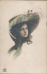 Portrait of Girl in Large Hat