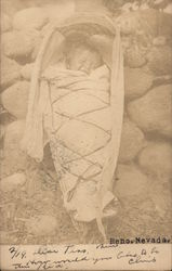 Native American Infant in Cradle Board Postcard