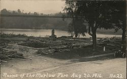 Ruins of the Marlow Fire - August 20,1916